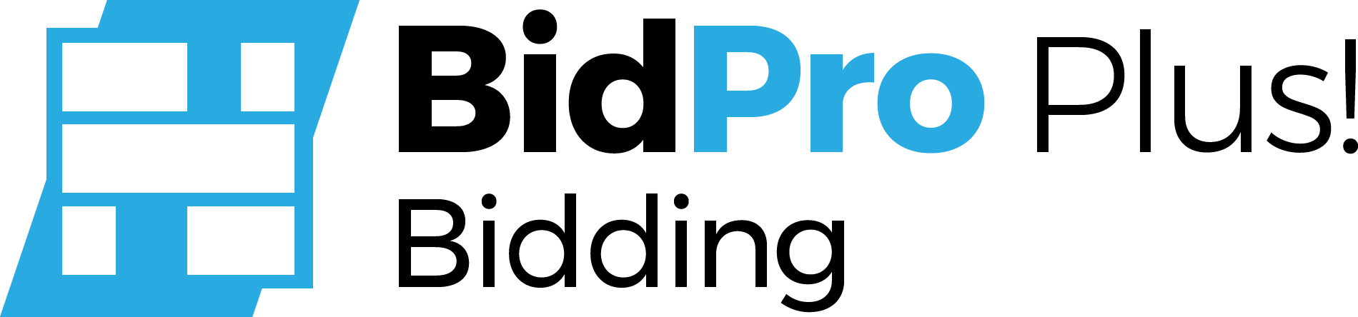 BidPro Plus! Bidding logo